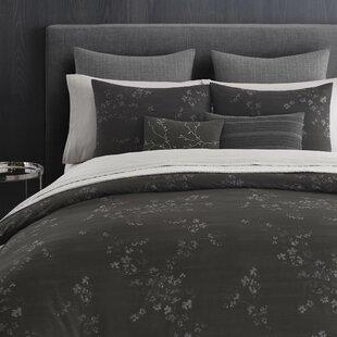 Vera Wang Charcoal Floral 100% Cotton 3 Piec..