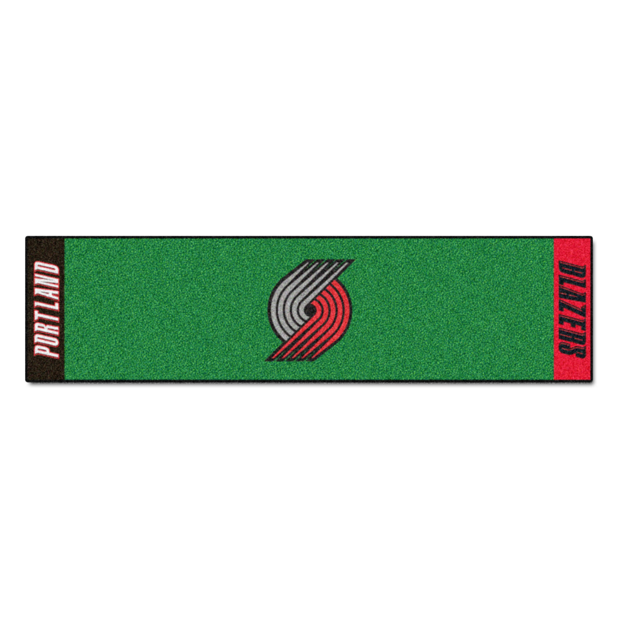 Fanmats Nba Portland Trail Blazers Putting Green 72 In X 18 In Non Slip Indoor Only Door Mat Wayfair