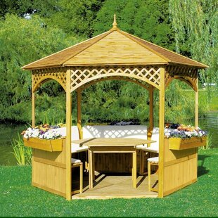 Palma 3.5m X 3m Solid Wood Permanent Gazebo By Sol 72 Outdoor