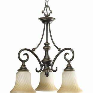 Terrie 3-Light Shaded Chandelier