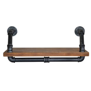 Osias Industrial Floating Wall Shelf by 17 Stories