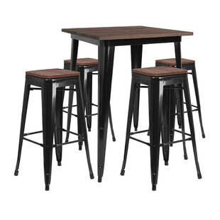 Mulholland Square 5 Piece Pub Table Set Williston Forge