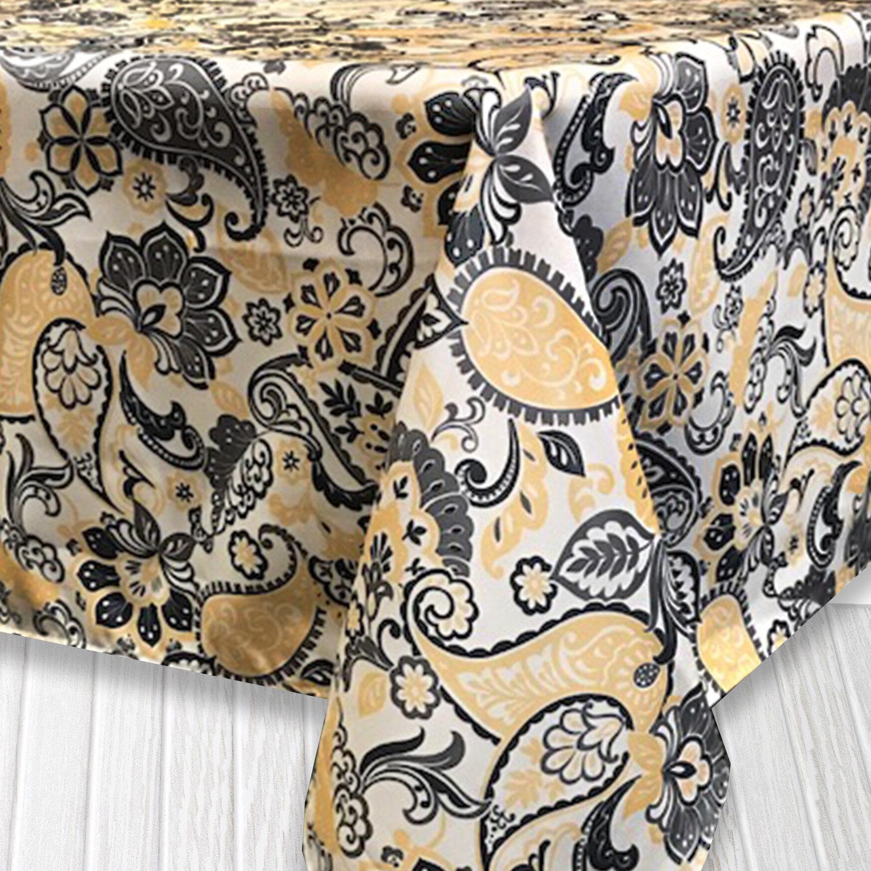 Bungalow Rose Mario Paisley Indoor/Outdoor Tablecloth & Reviews ...
