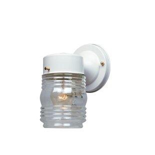 Tietjen Cast Steel 1 Light Outdoor Jelly Jar Sconce