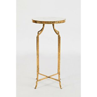 Ledbetter Marble Round End Table by Mercer41