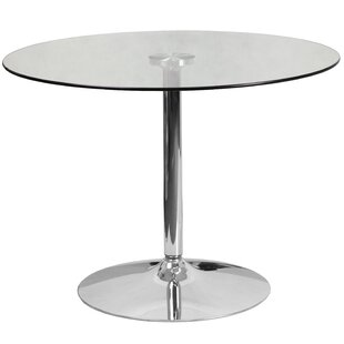 Charmant Cavell Round Glass Dining Table