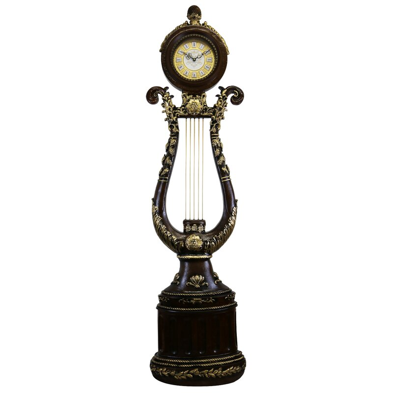 Astoria Grand Elegant Harp Shaped 66 Floor Clock Wayfair