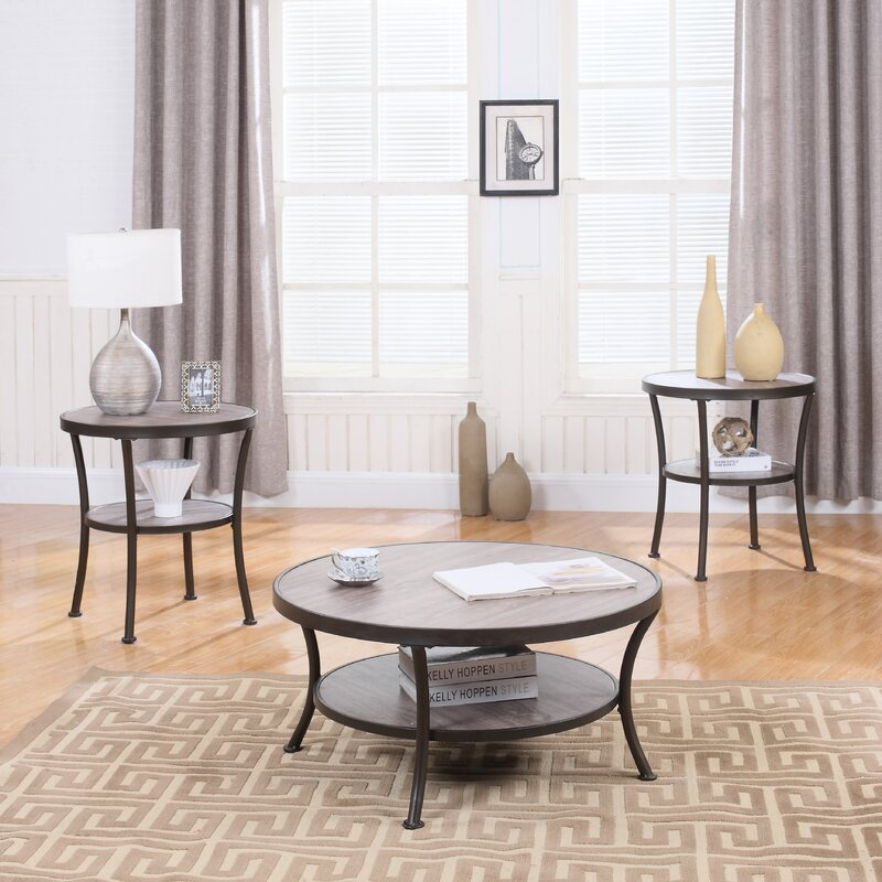 3 Piece Coffee Table And End Table Set