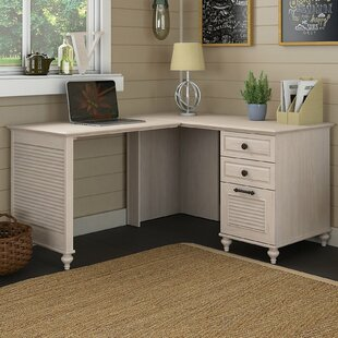 Volcano Dusk Wood L-Shape Writing Desk by Kathy Ireland Office Bush Design