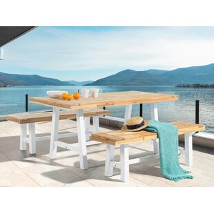 Nelsen 3 Piece Solid Wood Dining Set