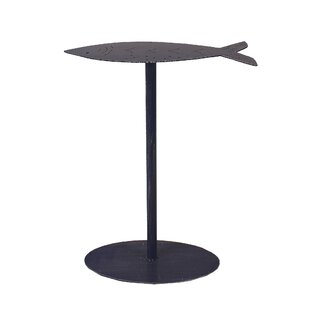 Bargain Isaias Fish Top End Table by Highland Dunes