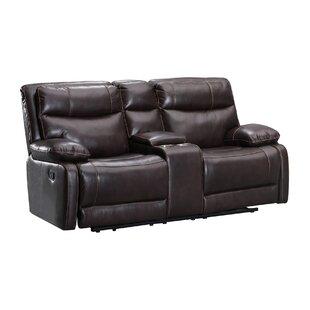 Super Leatherette Dual Recliner Wooden Loveseat With Console Brown Frankydiablos Diy Chair Ideas Frankydiabloscom