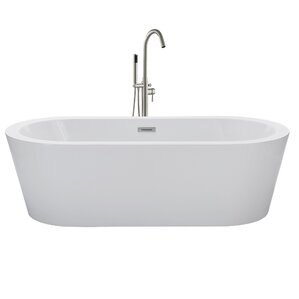 60 inch freestanding soaking tub. 67  x 32 Freestanding Soaking Bathtub Tubs