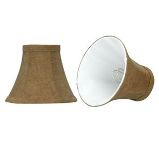 6 Linen Bell Candelabra Shade (Set of 2)