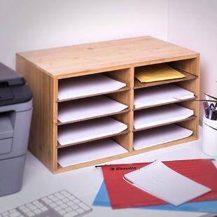 Charterhouse Bamboo Desktop 8 Compartment Document Organiser By Rebrilliant