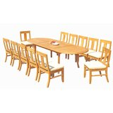 Kevon 13 Piece Teak Dining Set