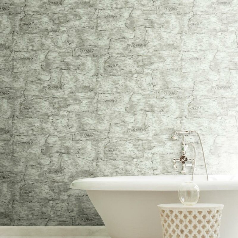 York Wallcoverings Natural Elements Birch Bark 33 X 20 5
