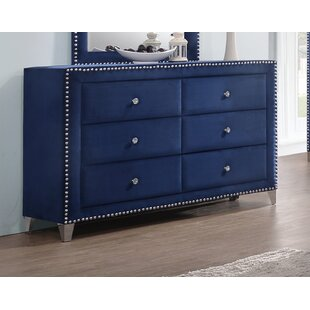 Rosdorf Park Malone 6 Drawer Double Dresser