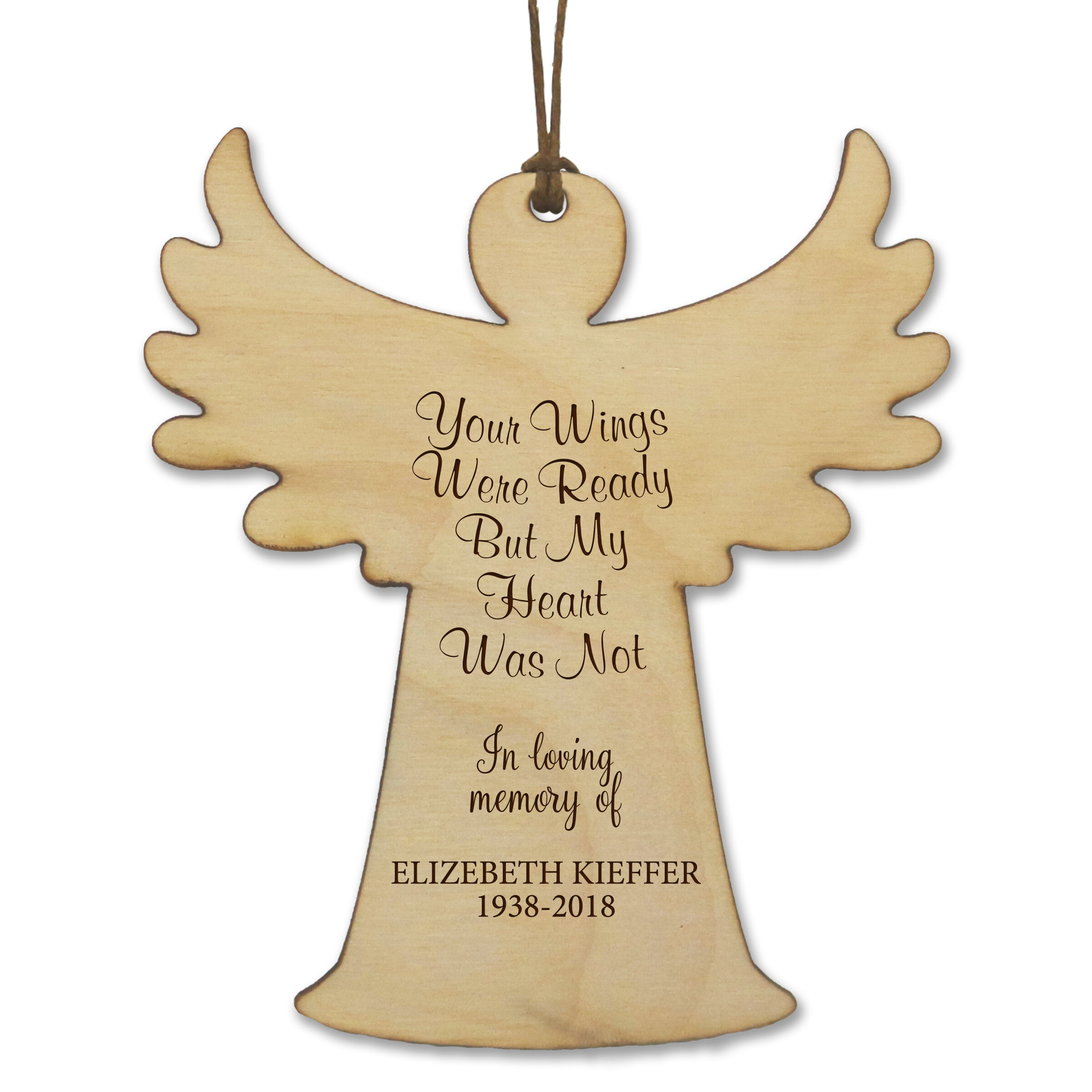 The Holiday Aisle Your Wings Were Ready Memorial Keepsake Engraved Angel Hanging Figurine Ornament Wayfair