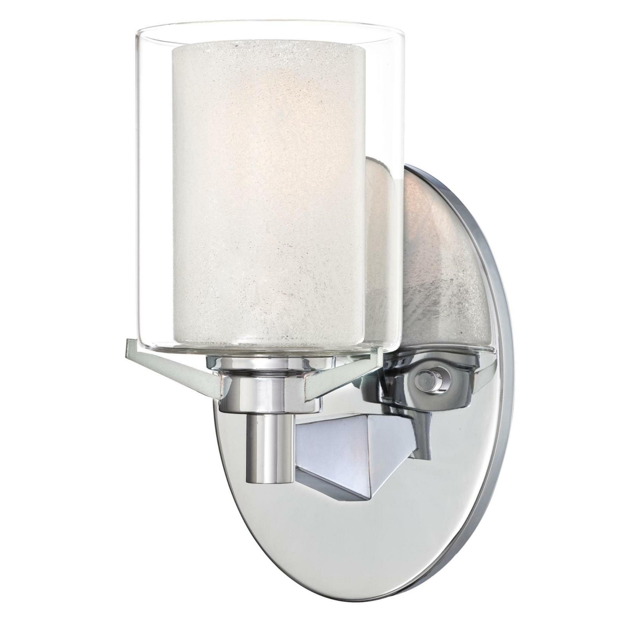 Darby Home Co Johns 1 Light Dimmable Chrome Bath Sconce Wayfair