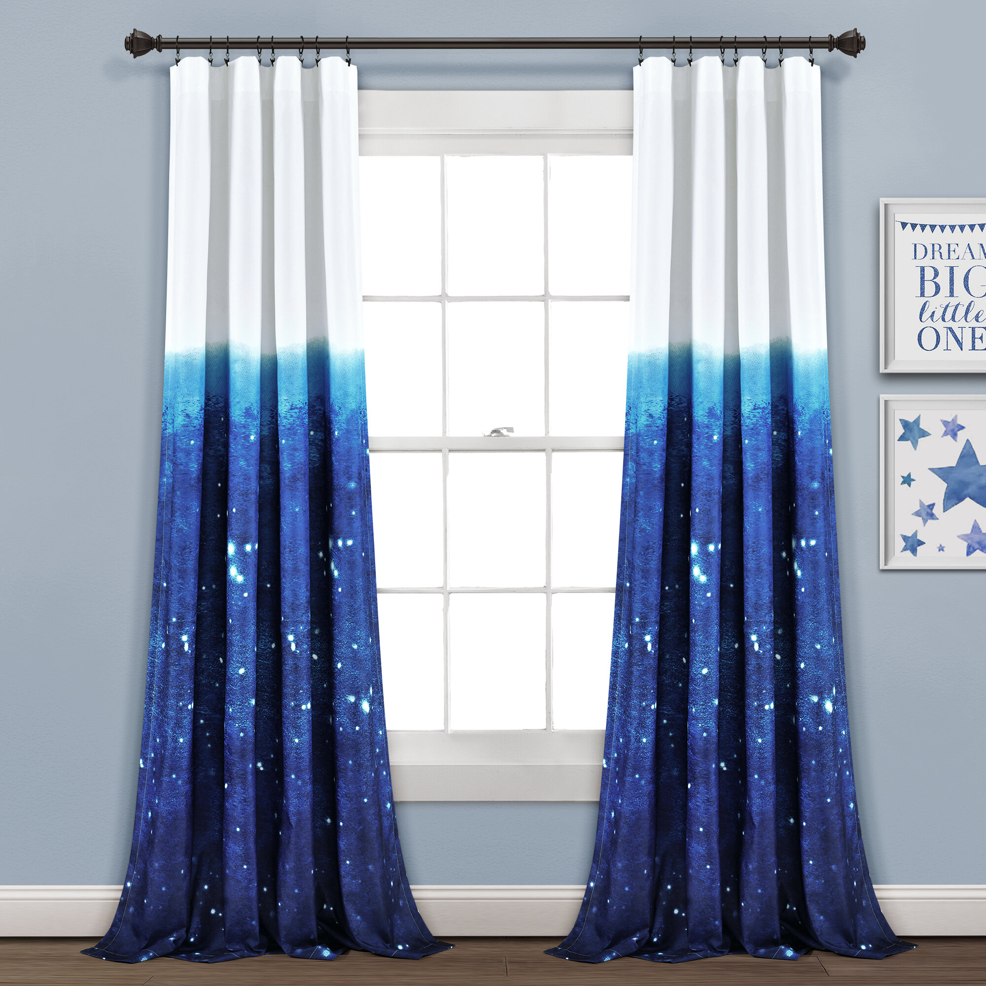Rosecliff Heights Make A Wish Space Star Ombre Semi Sheer Curtain Panels Reviews Wayfair