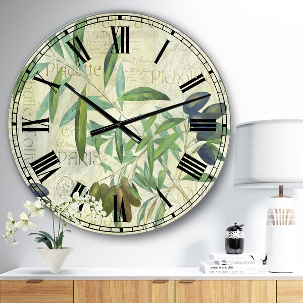 East Urban Home Oversized Olives Picholines Wall Clock Wayfair
