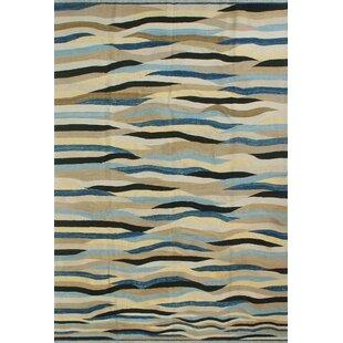 Bargain Dickie Hand-Knotted Wool Blue/Beige/Black Area Rug ByBloomsbury Market