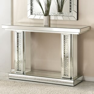 Genial Bladwell Rectangle Mirrored Console Table