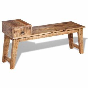 Best Kelsie Wood Storage Bench