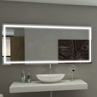 Comparison Harmony Illuminated Bathroom/Vanity Wall Mirror By Paris Mirror