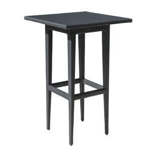 Onyx Square Wicker Bar Table with Glass