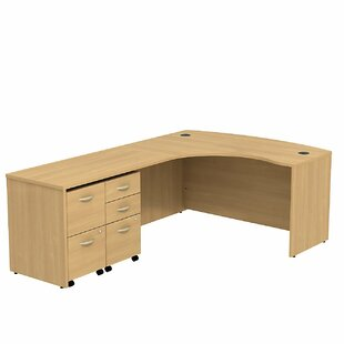 Series C Bow Front L-Shape Executive Desk
