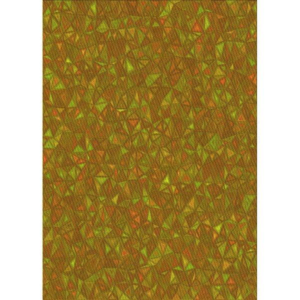 East Urban Home Geometric Wool Yellow Green Red Area Rug Wayfair
