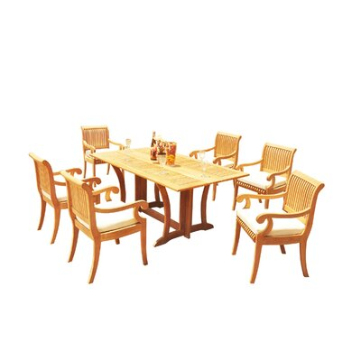 Mastropietro 7 Piece Teak Dining Set by Rosecliff Heights Read Reviews
