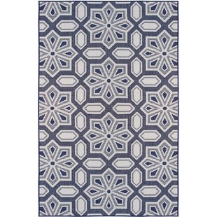 Reviews Poff Navy/White Indoor/Outdoor Area Rug By Winston Porter