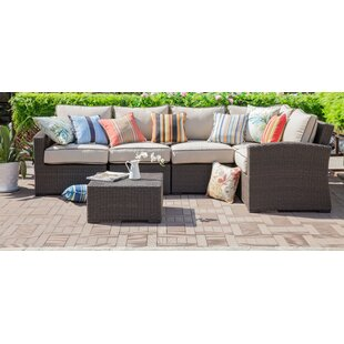 Rosecliff Heights Ernst 6 Piece Sectional Seating Group with Cushions
