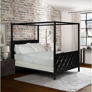 Willa Arlo Interiors Albritton Premium Queen Upholstered Canopy Bed