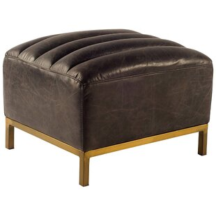 17 Stories Dace Leather Ottoman