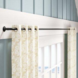 Haffey Room Darkening Wrap Single Curtain Rod