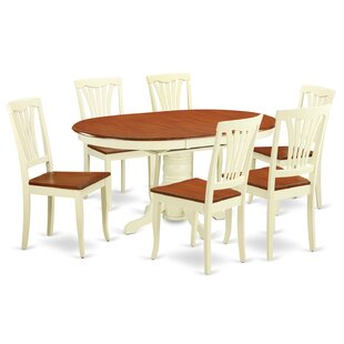 Emmaline 7 Piece Extendable Solid Wood Dining Set