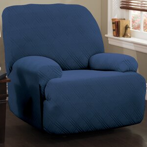 Double Diamond Stretch Sensations Box Cushion Recliner Slipcover