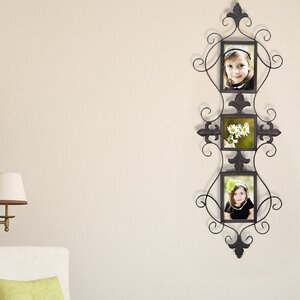 3 Opening Decorative Iron Metal Wall Hanging Collage Picture Frame