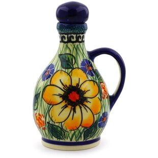 Polish Pottery Bottle Cruet
