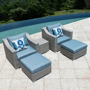 Bowser 5 Piece Conversation Set with Cushions