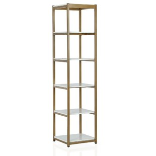 Billie Metal Etagere Bookcase by CosmoLiving Cosmopolitan Modern