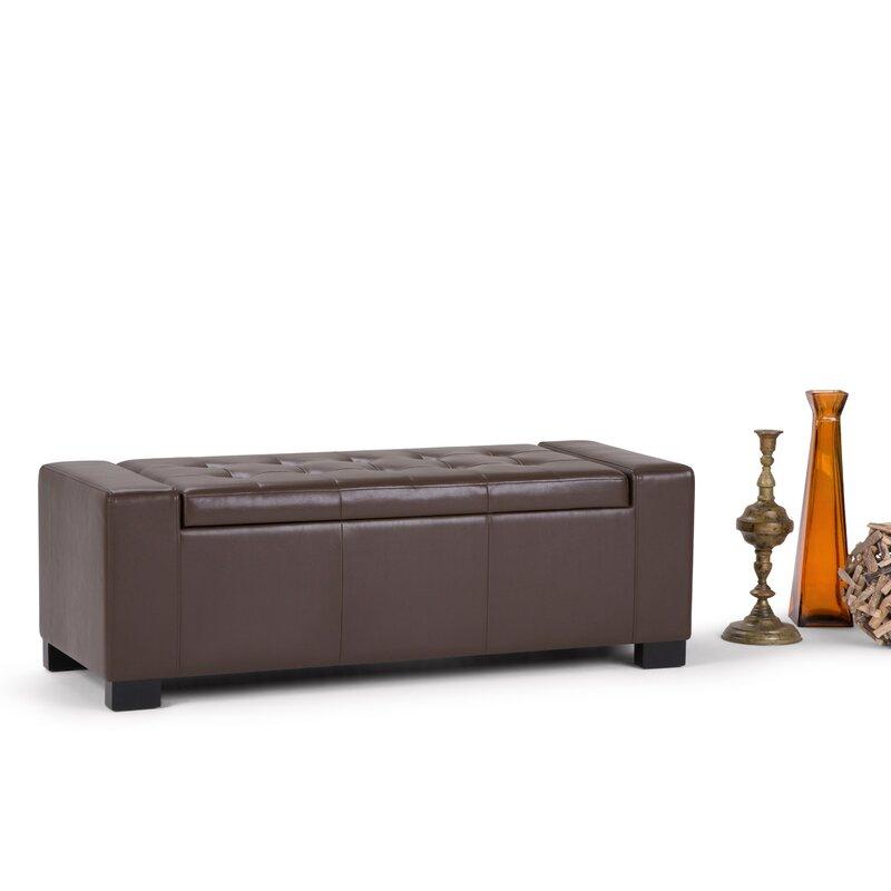 Latitude Run Asdsit Upholstered Storage Ottoman Reviews Wayfair