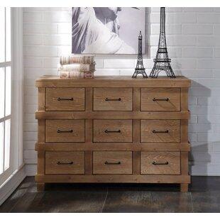 Loon Peak Whetsel Wooden 9 Drawer Dresser