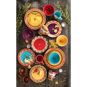 Galicia 16 Piece Dinnerware Set, Service for 4