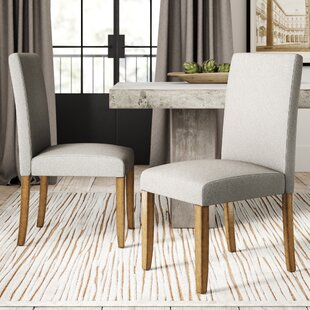 Ringgold Upholstered Parsons Chair (Set of 2) Greyleigh