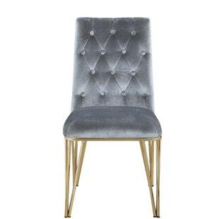 Everly Quinn Singleton Upholstered Dining Chair (Set of 2)